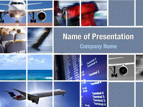 Powerpoint Photo Collage Template Transportation Powerpoint Templates Transportation