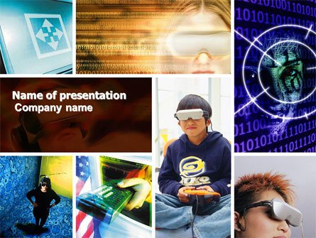 Powerpoint Photo Collage Template Virtual Reality Collage Presentation Template for