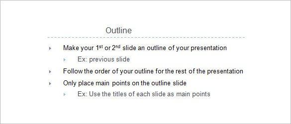 Powerpoint Presentation Outline Example 9 Presentation Outline Templates