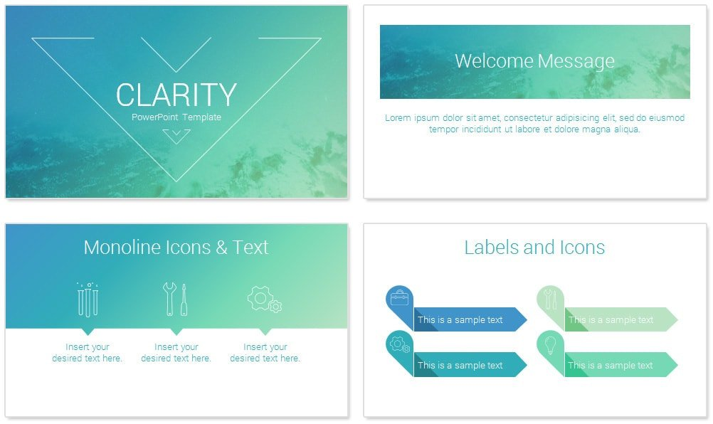 Powerpoint Presentation Outline Example Clarity Powerpoint Template Presentationdeck