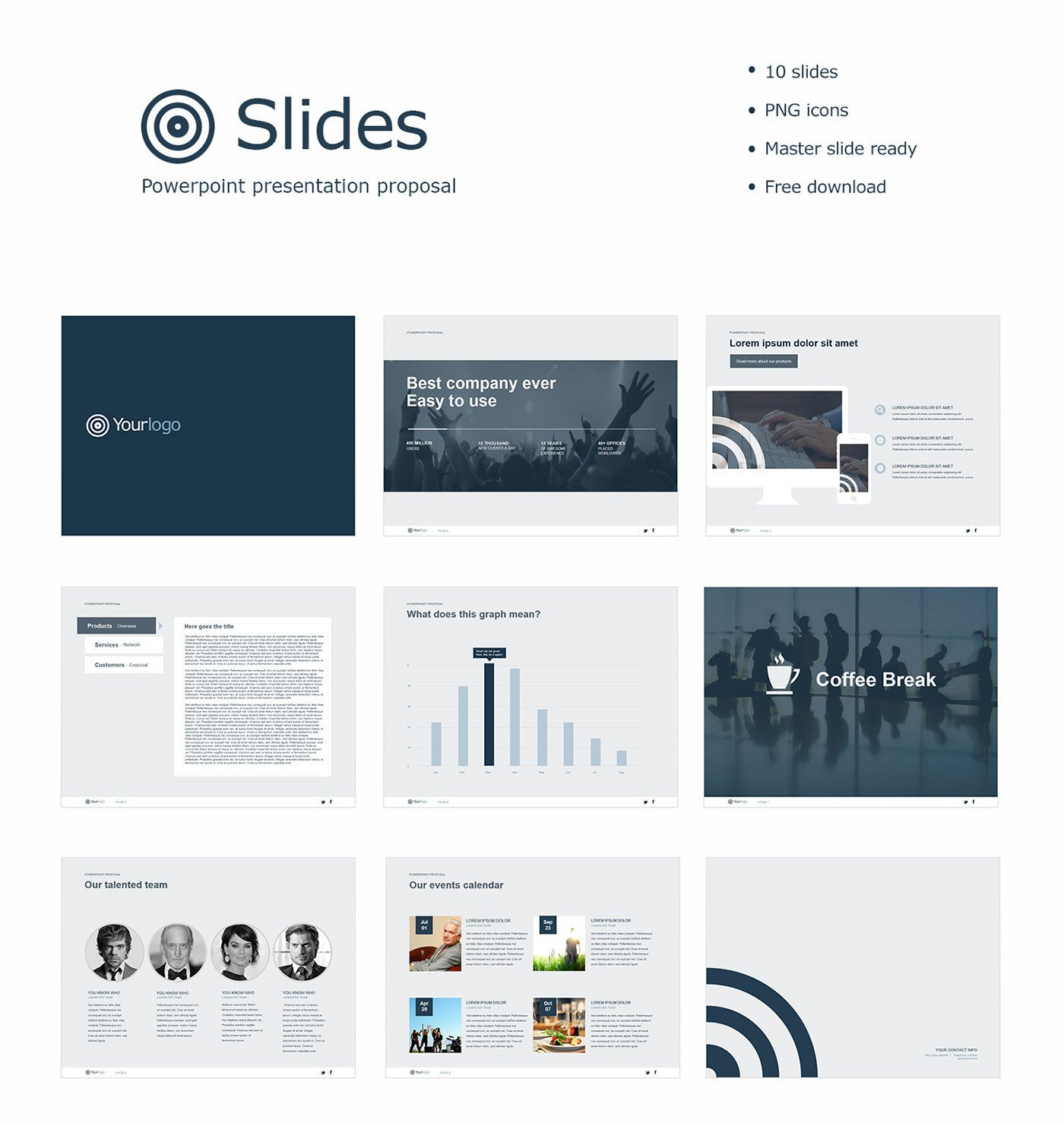 Powerpoint Presentation Outline Example Free Powerpoint Template On Behance