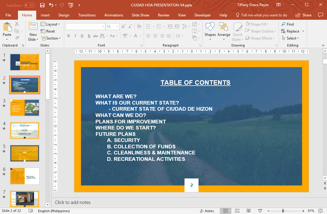 Powerpoint Presentation Outline Example How to Make Table Of Contents In Powerpoint