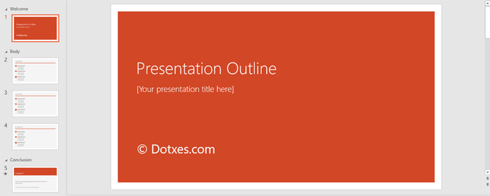 Powerpoint Presentation Outline Example Presentation Outline Template 19 formats for Ppt Word
