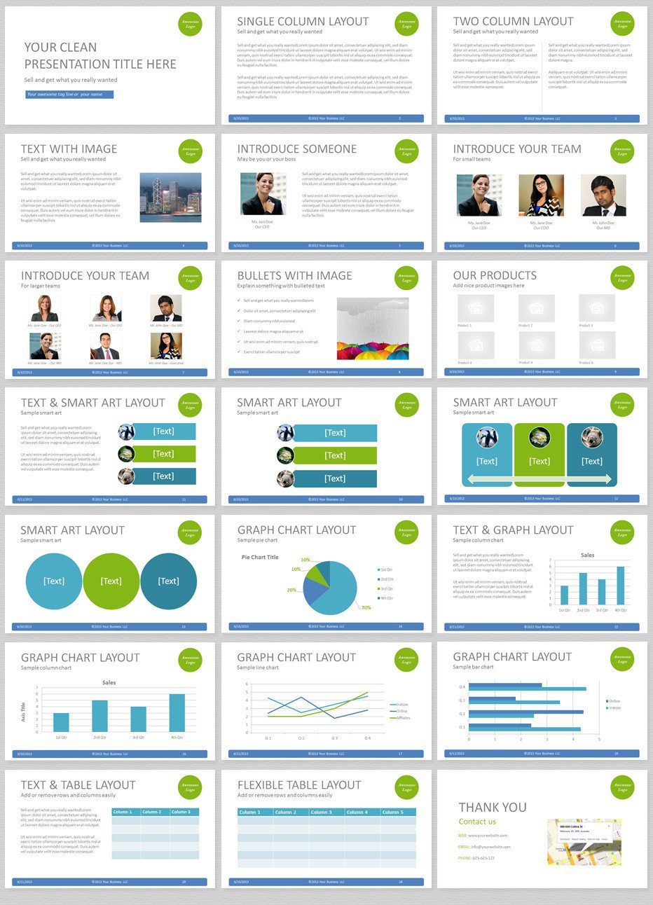 Powerpoint Presentation Outline Example Simple Powerpoint Template with Clean and Elegant Easy to