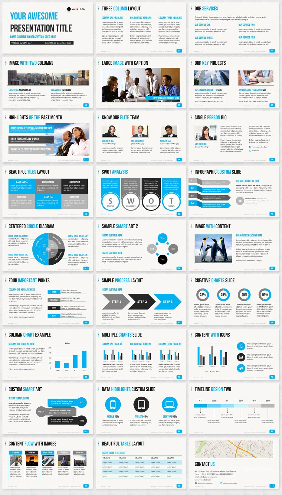 Powerpoint Presentation Outline Example Ultimate Professional Business Powerpoint Template 1650