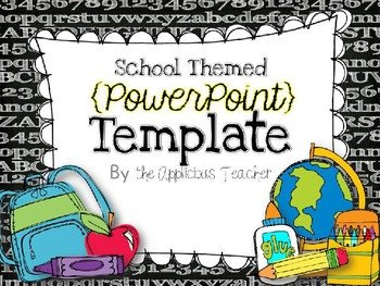 Powerpoint Templates for Teachers Back to School Powerpoint Template by the Applicious