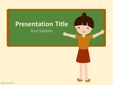 Powerpoint Templates for Teachers Free Cartoon Powerpoint Templates Myfreeppt