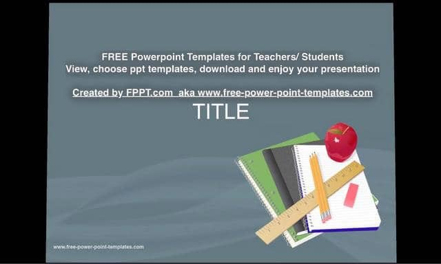 Powerpoint Templates for Teachers Free Download Powerpoint Templates Created by Fppt for