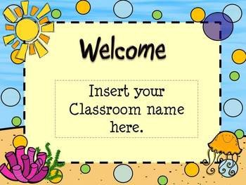 Powerpoint Templates for Teachers Open House Ocean Beach themed Powerpoint Template by