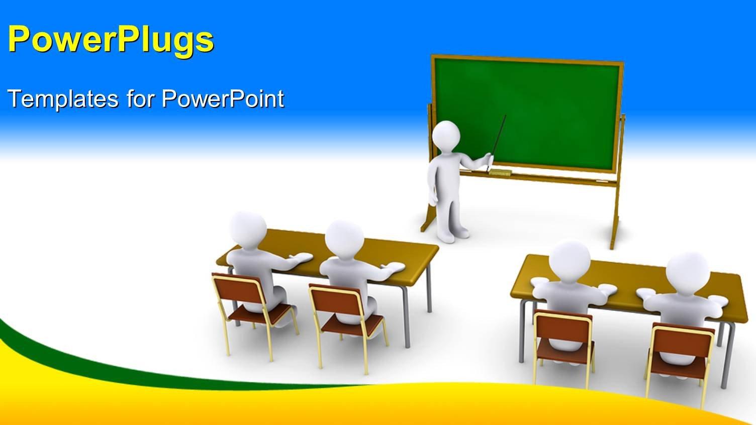Powerpoint Templates for Teachers Powerpoint Template 3d Characters Of A Teacher Teaching