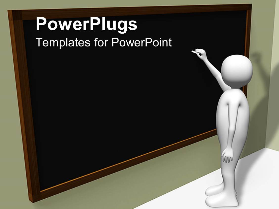 Powerpoint Templates for Teachers Powerpoint Template Person Writing On Blackboard with