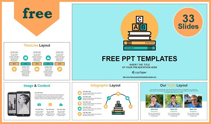 Powerpoint Templates Free Education Alphabet Blocks Of Education Concept Powerpoint Template