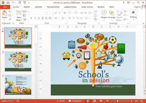 Powerpoint Templates Free Education Animated School Powerpoint Templates