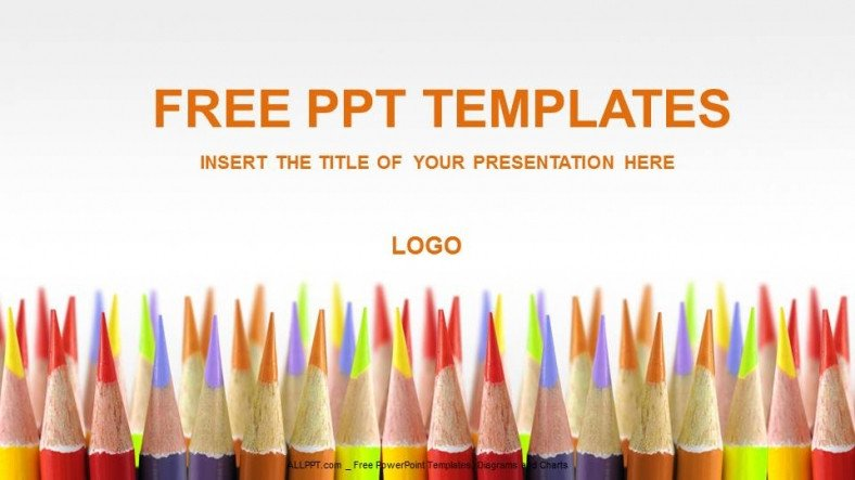 Powerpoint Templates Free Education Colored Pencils Education Powerpoint Templates Download