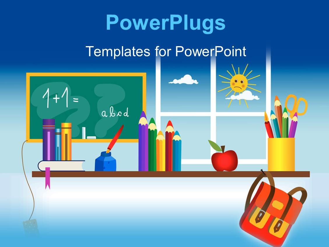 Powerpoint Templates Free Education Powerpoint Template A Classroom Setting with Lots Of