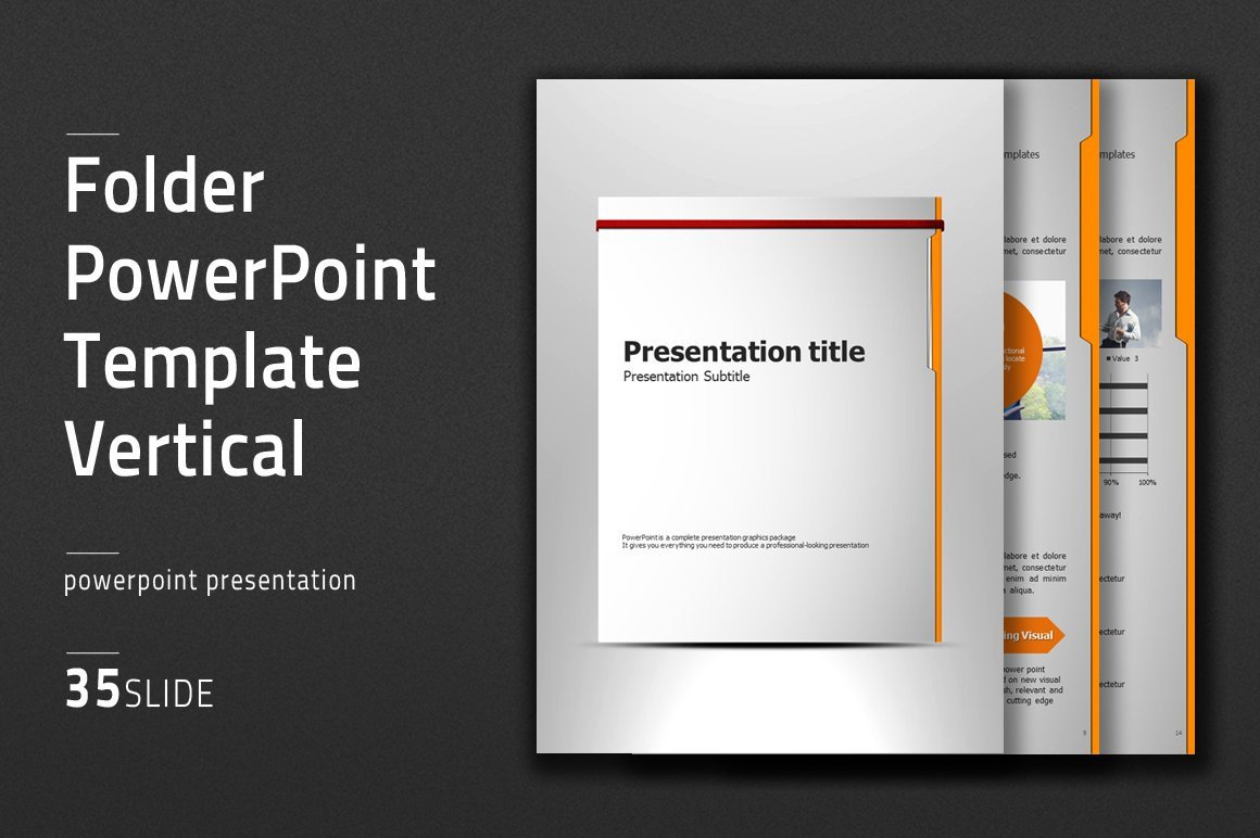 Ppt Presentation Template Free Folder Vertical Ppt Template Powerpoint Templates