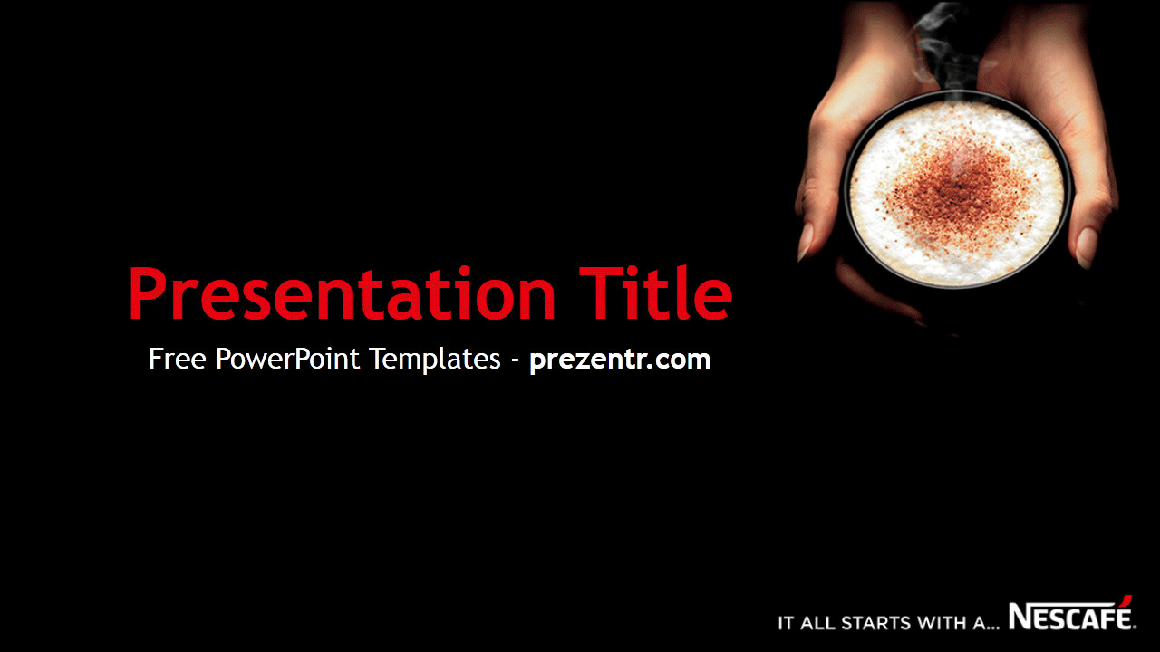 Ppt Presentation Template Free Free Nescafe Powerpoint Template Prezentr Powerpoint