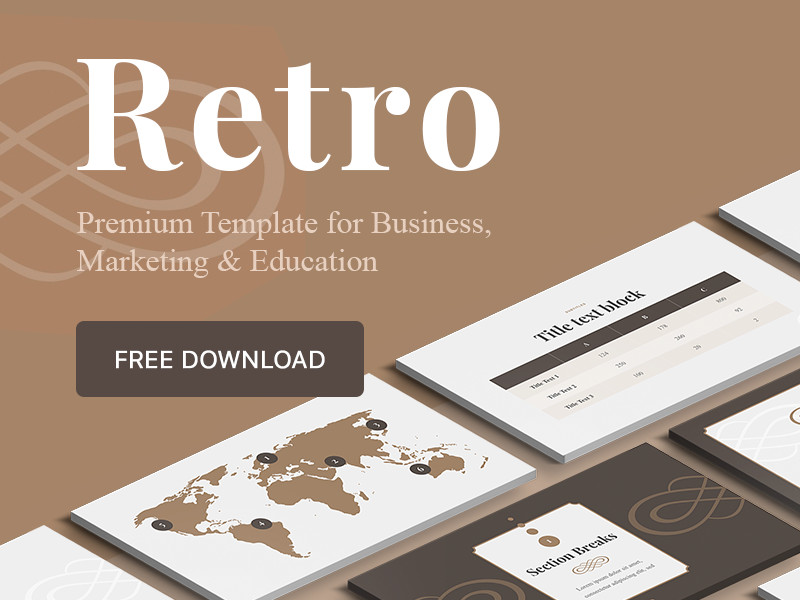 "Ppt Presentation Template Free Free ""retro"" Powerpoint Keynote Google Slides Template"