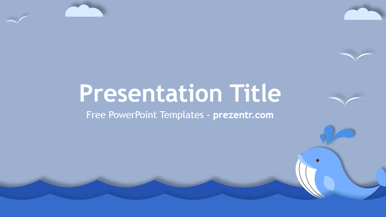 Ppt Presentation Template Free Free Whale Powerpoint Template Prezentr Powerpoint Templates