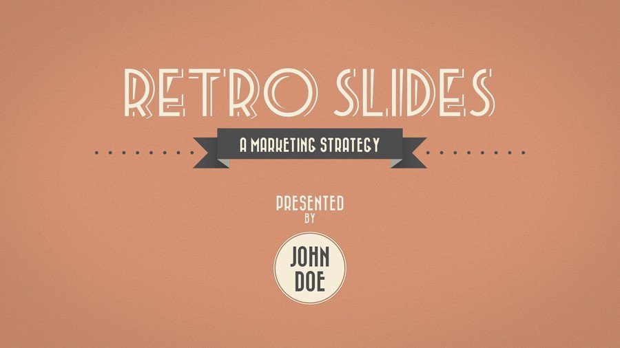 Ppt Presentation Template Free Retro Slides Powerpoint Template Widescreen by