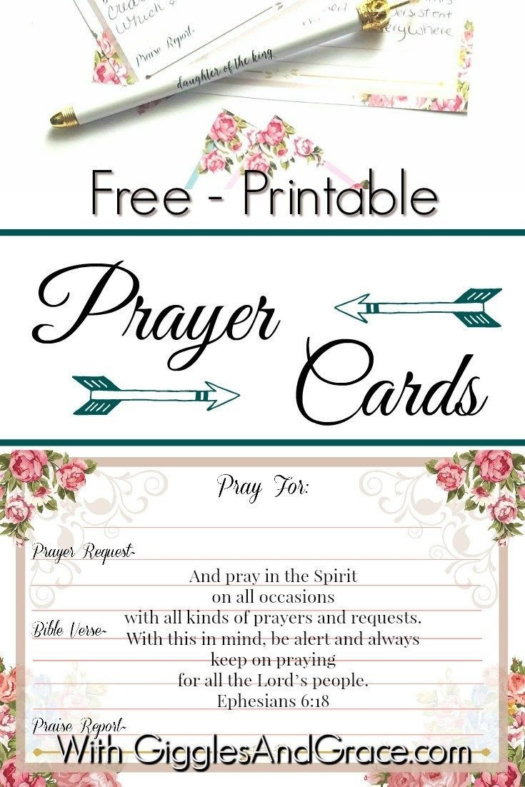 Prayer Card Template Free 1397 Best Free Christian Printables Women & Families