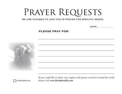 Prayer Card Template Free Prayer Card Printable Prayer Request Cards 4 Cards On 8 5