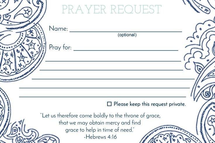 Prayer Request Card Template De 25 Bedste Idéer Inden for Anmodning Bøn På Pinterest