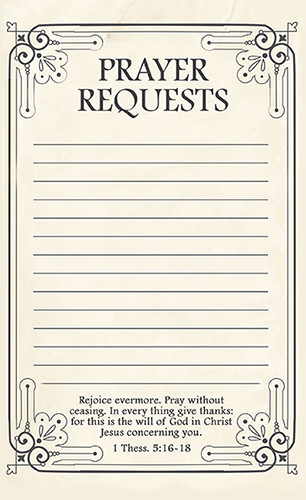 Prayer Request Card Template Free Printable Prayer Request forms Time Warp Wife