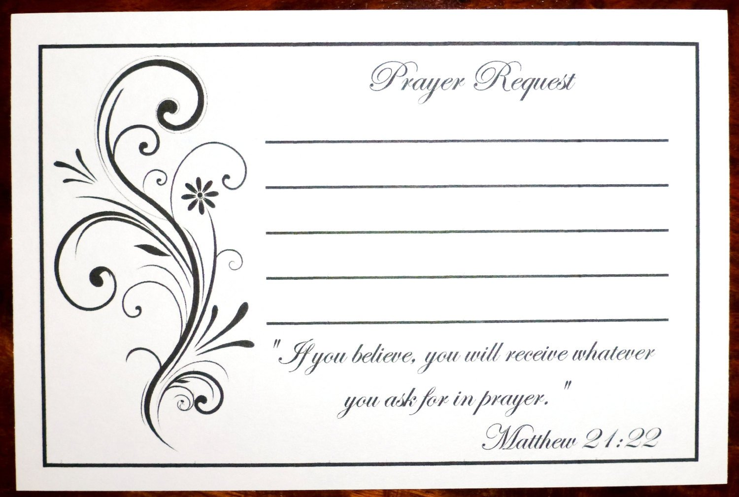 Prayer Request Card Template Pack Of 100 Prayer Request Cards