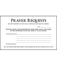 Prayer Request Card Template Prayer Card Prayer Requests Pkg 50