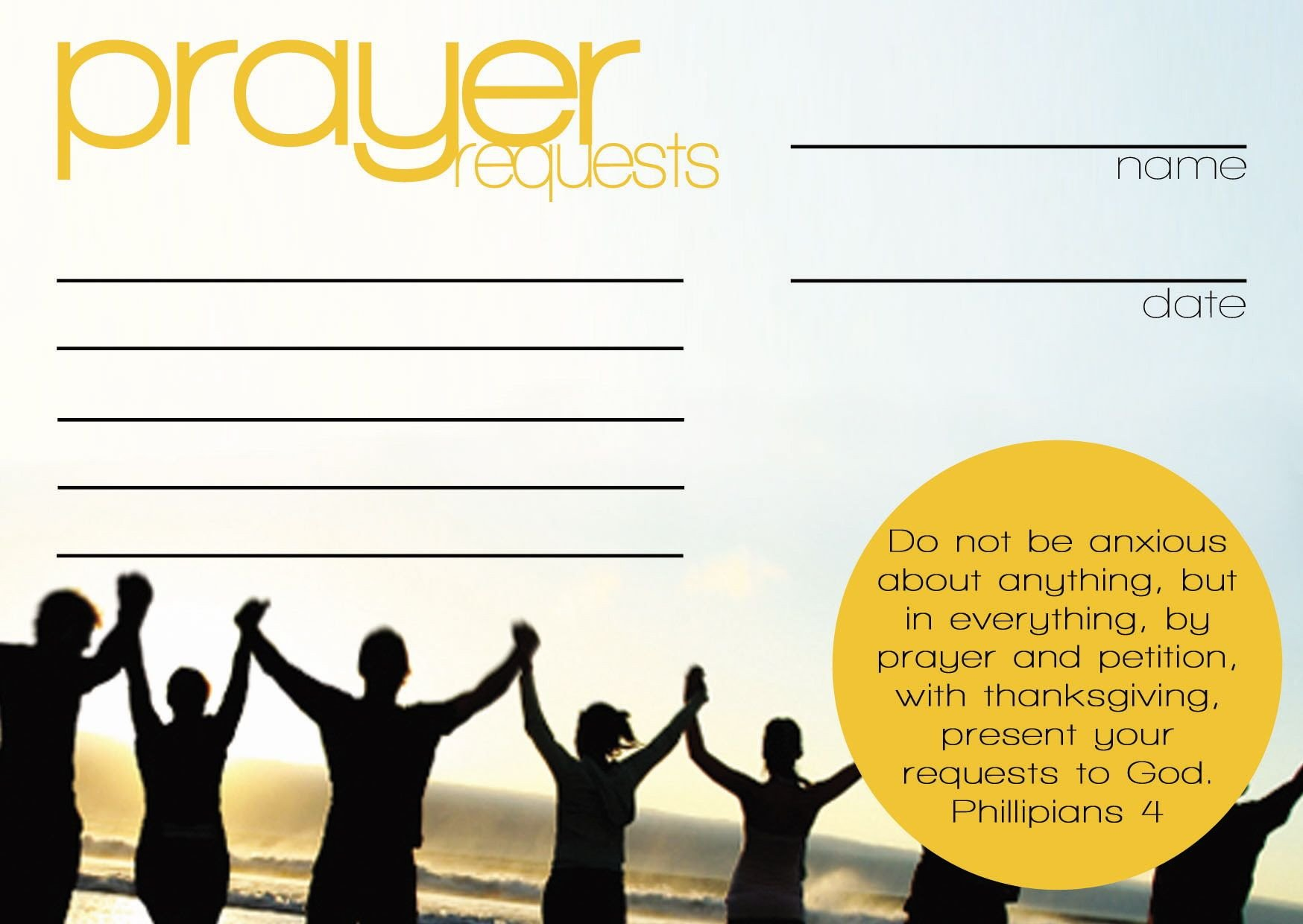 Prayer Request Card Template Prayer Request Cards Templates
