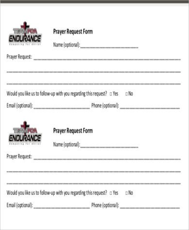 Prayer Request Card Template Sample Prayer Request form 10 Examples In Word Pdf