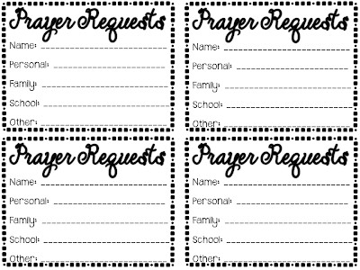 Prayer Request Card Template Your Teacher is Praying for You Joy In the Journey
