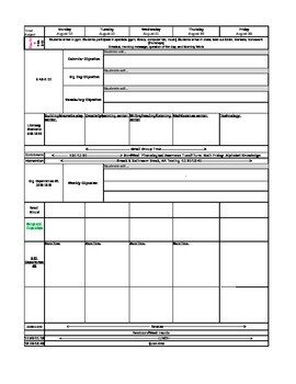 Pre K Lesson Plan Template Big Day Pre K Lesson Template by Jacqueline Beavers
