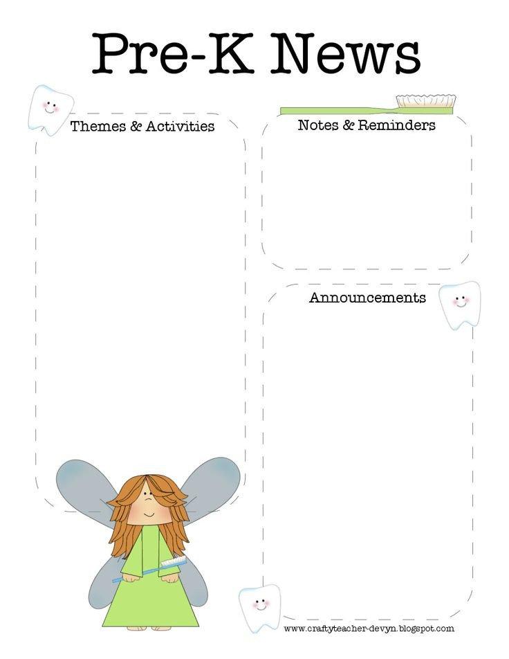 Pre K Newsletter Template 17 Best Ideas About Preschool Newsletter Templates On