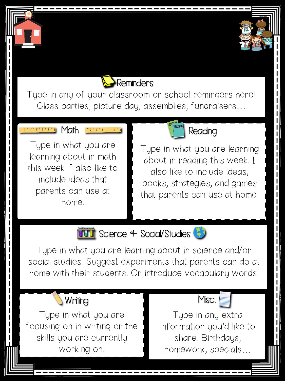 Pre K Newsletter Template Read Like A Rock Star S Class Newsletter Template Freebie