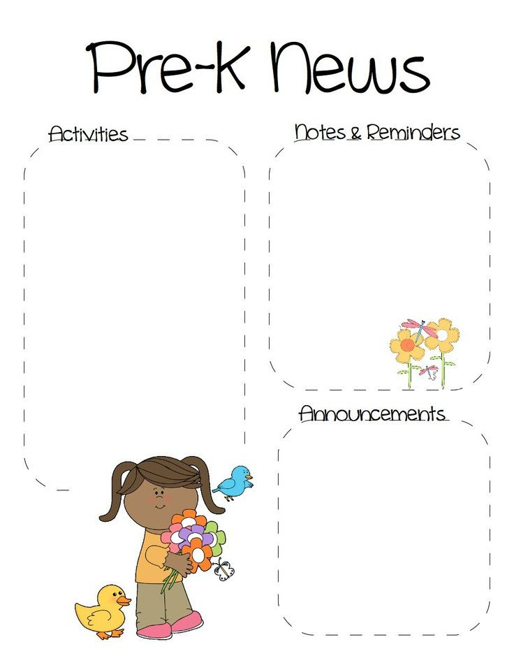 Pre K Newsletter Templates 17 Best Images About Newsletter Templates On Pinterest