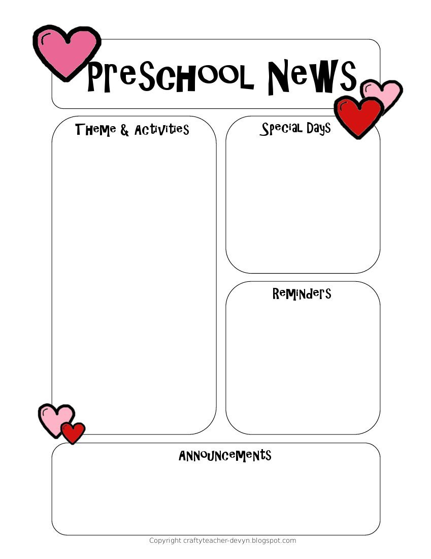 Pre K Newsletter Templates Newsletter Templates