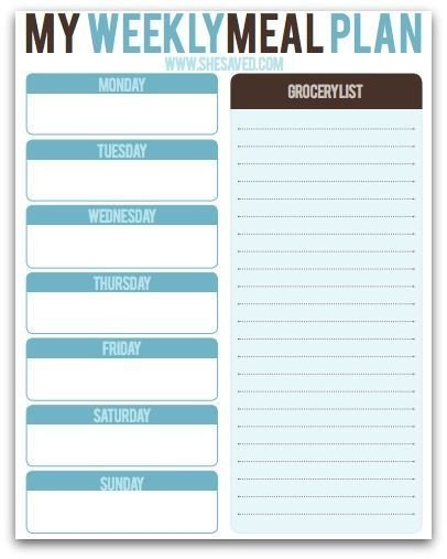 Precision Nutrition Meal Plan Template Free Weekly Meal Planning Printable