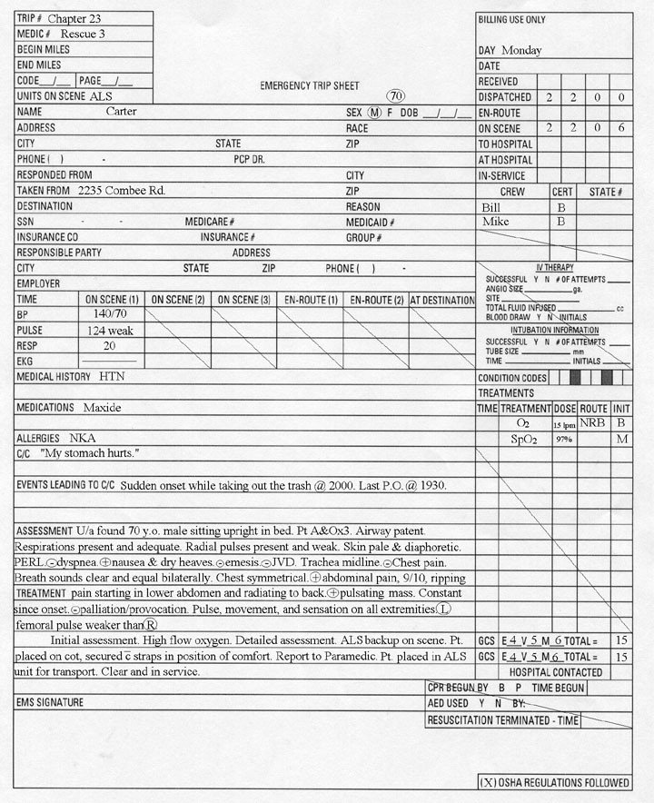 Prehospital Care Report Template 22 Of Patient Care Report Template