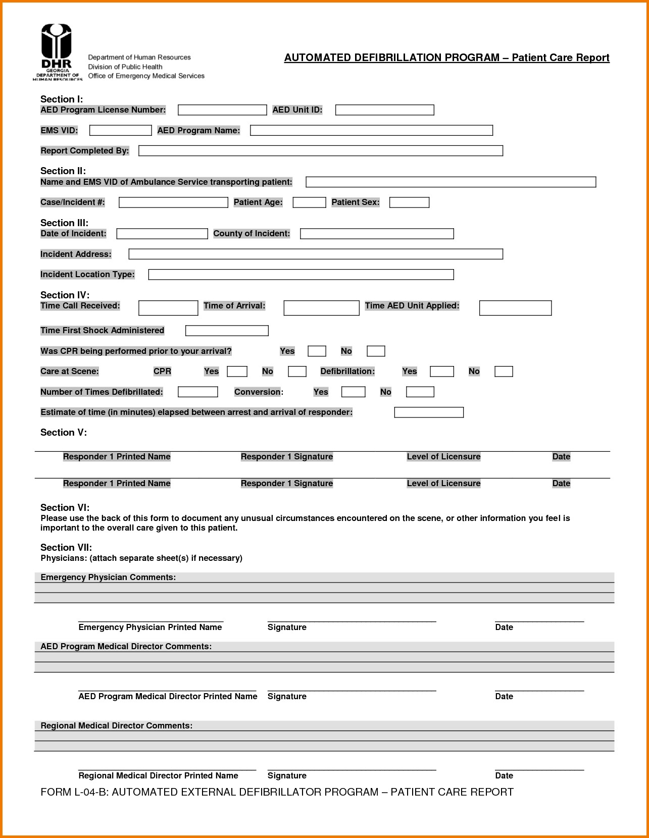 Prehospital Care Report Template 24 Of Ems Pcr Template