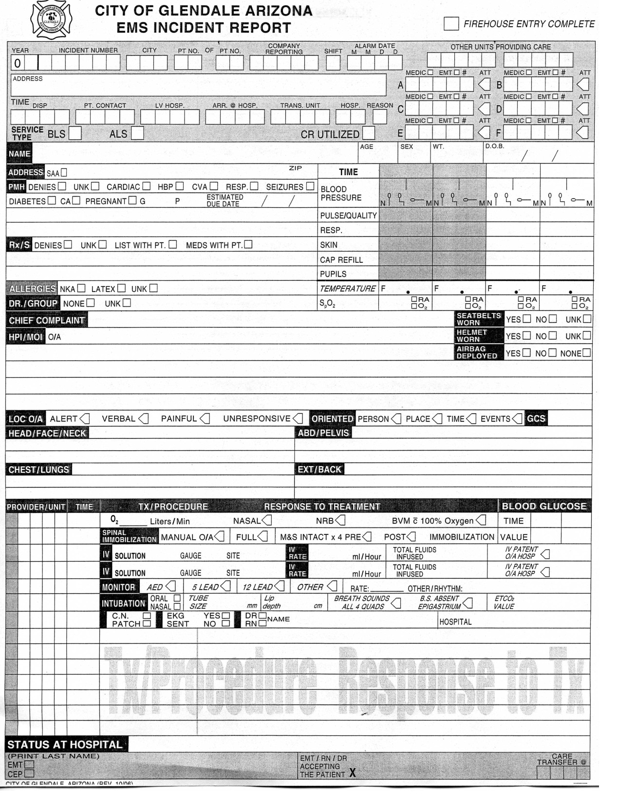 Prehospital Care Report Template 28 Of Ems Run Report Template