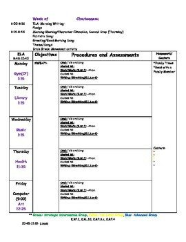 Prek Lesson Plan Templates Blank Kindergarten Lesson Plan Template by Cheryl Mercier
