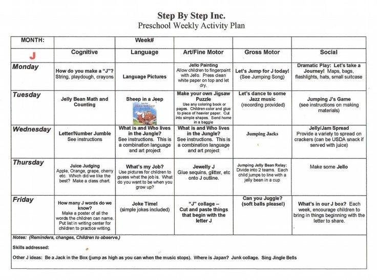 Prek Lesson Plan Templates Emergent Curriculum Preschool Lesson Plan Template