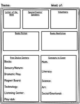 Prek Lesson Plan Templates Preschool Pre K Lesson Planning Templates & Editable