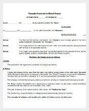 Prenuptial Agreement Template Word 435 Agreement Templates Word Pdf