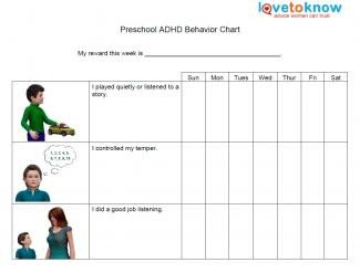 Preschool Behavior Chart Template Adhd Behavior Charts