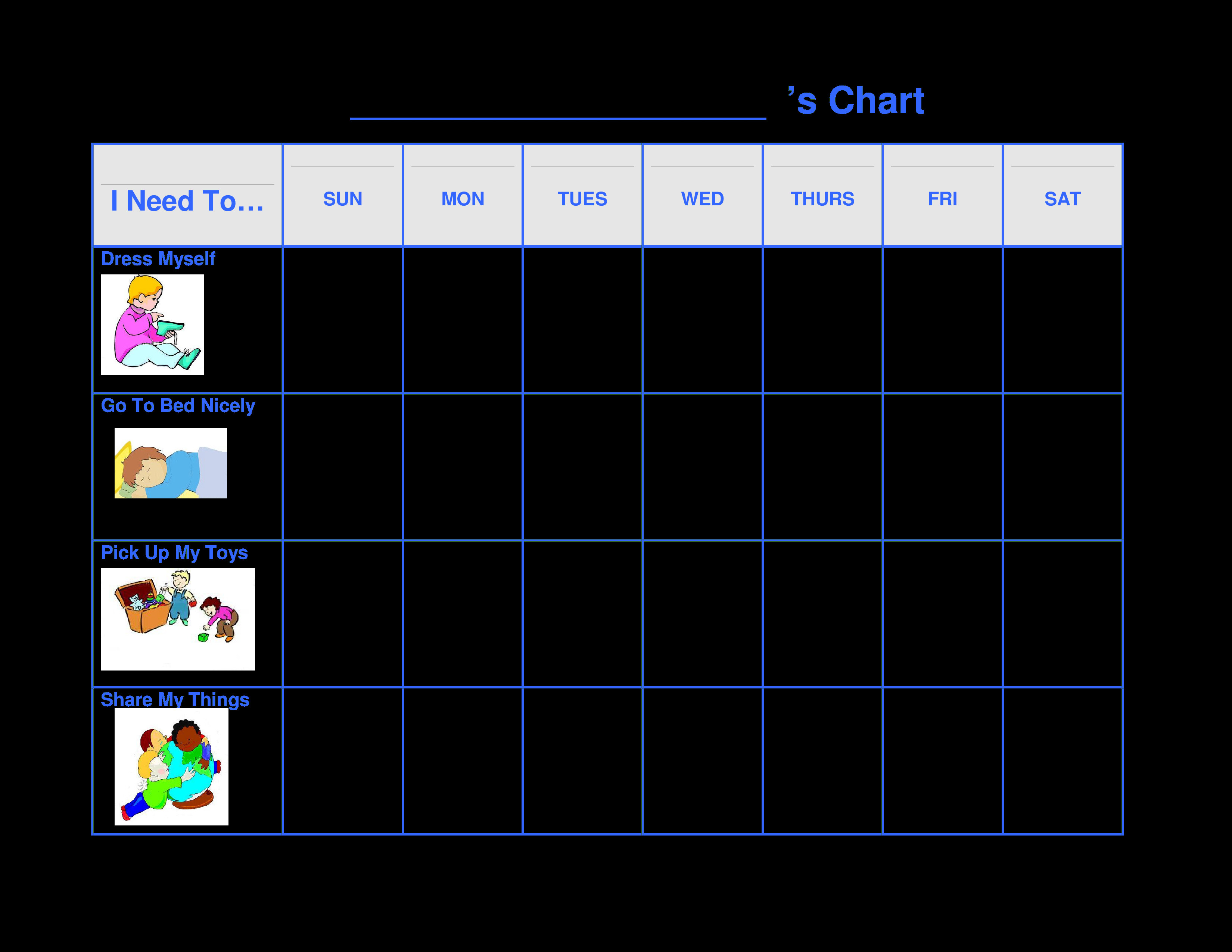Preschool Behavior Chart Template Printable Preschool Behavior Chart