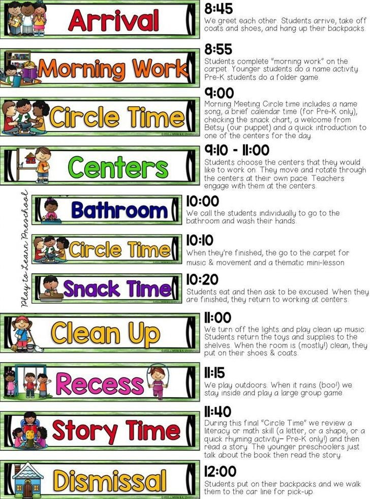 Preschool Daily Schedule Template 17 Best Images About Classroom Schedule On Pinterest