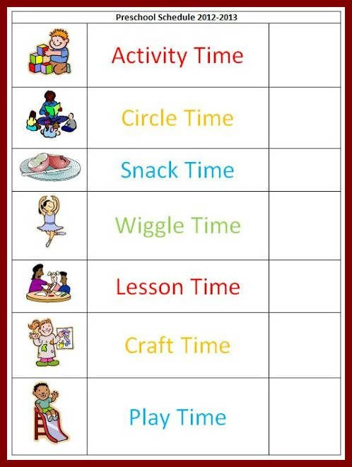 Preschool Daily Schedule Template Best 25 Daily Schedule Template Ideas On Pinterest